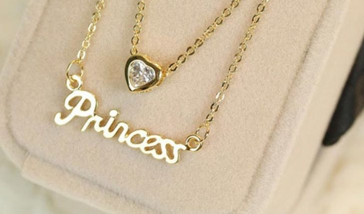 princess necklace gold